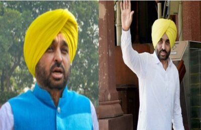 Aam Aadmi Party Punjab chief Bhagwant Mann presented 'Kam Roku Sankalp' in Parliament for the fifth time to repeal the farming law.