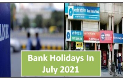 Bank Holidays In July 2021