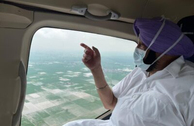 Chief Minister Capt. Amarinder Singh conducted aerial survey of Ghaggar river
