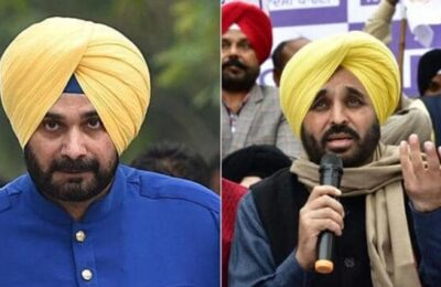 Congress MLA Navjot Singh Sidhu avoids accepting the huge challenge posed by AAP leader Bhagwant Mann yesterday