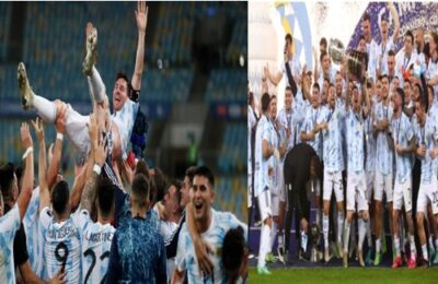 Copa America 2021 Final Lionel Messi created history, Argentina became champion after 28 years after defeating Brazil