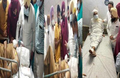 Navjot Singh Sidhu reached Ludhiana DMC and inquired about the condition of the injured Congress worker