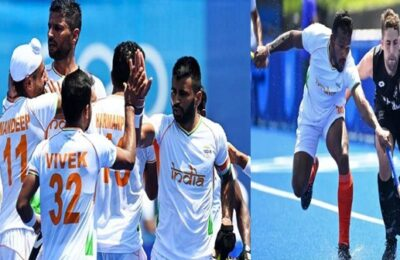 Tokyo Olympic The Indian hockey team started with a win, beating New Zealand 3-2 in the first match