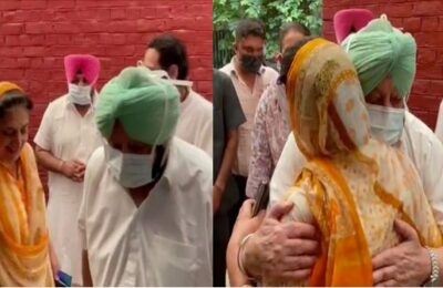 On Friday, Chief Minister Capt Amarinder Singh reached the residence of former Chief Minister Rajinder Kaur Bhattal