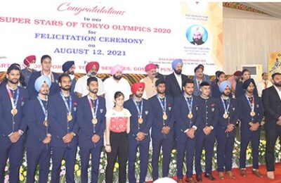 Governor Punjab and Capt Amarinder Singh awarded cash prizes of Rs 28.36 crore to Olympic athletes