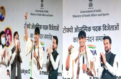 India's Olympics Champions Olympic medalists honored in Delhi