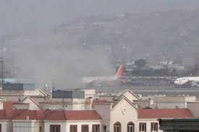 Rocket attack in another explosion near Kabul Airport killed two people including a child