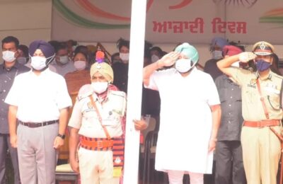 On the occasion of Independence Day, CM Capt. Amarinder Singh honored 45 persons with State Awards