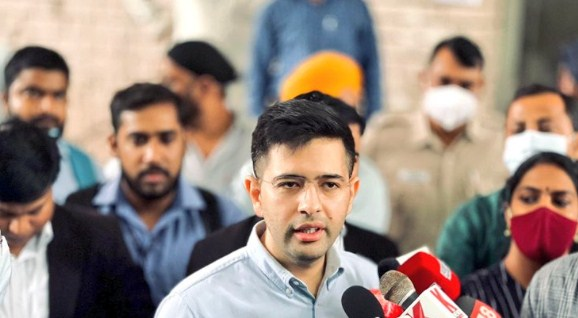 AAP spokesperson Raghav Chadha alleged that notices were being sent to our party to discredit the Aam Aadmi Party and waste our time