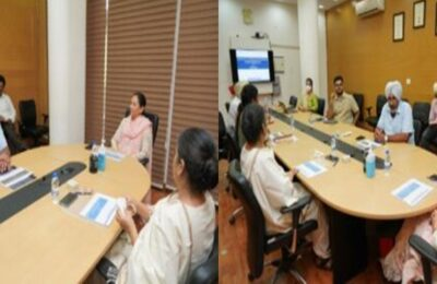 During the inaugural review meeting with the top officials of the department today, Aruna Chaudhary directed to further expedite the functioning of the revenue department.