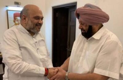 Capt. Amarinder Singh met Amit Shah and the two talked for about 45 minutes