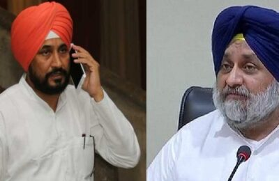 Congratulations to Charanjit Singh Channi on becoming Chief Minister by Sukhbir Singh Badal