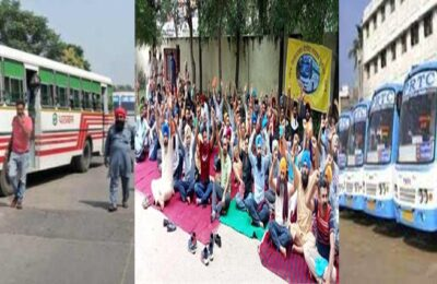 PUNBUS AND PRTC CONTRACT EMPLOYEES Postpone Siege of Chief Minister Capt. Amarinder Singh's Siswan Farmhouse