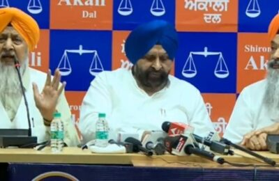 Shiromani Akali Dal to march from Mohali to Chandigarh on September 29 to Chief Minister Charanjit Singh Channi's residence