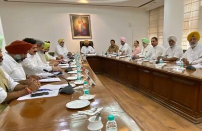 The next cabinet meeting of the Punjab government will be held on October 4