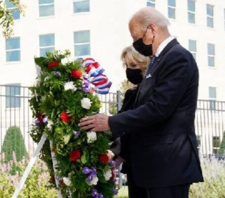 U.S. President Joe Biden paid tribute to the victims by visiting 3 sites related to the 911 attacks