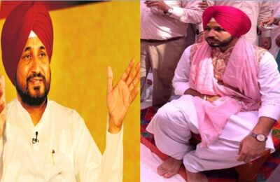 CM Charanjit Singh Channi's Son's wedding Chief Minister Channi's eldest son Navjit Singh's wedding on Sunday, the atmosphere of celebration at home