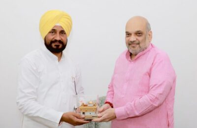 CM Charanjit Singh Channy seeks personal intervention of Amit Shah to seal borders to curb illicit supply of drugs and arms