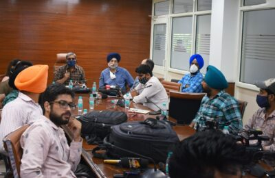 Chief Electoral Officer, Punjab conducts workshop with representatives of Web News Channels and News Portal
