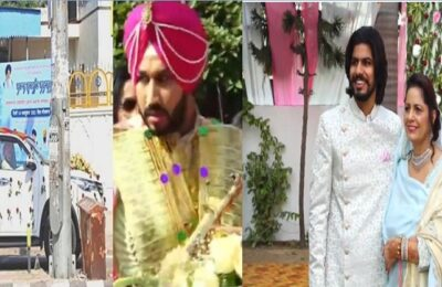 Punjab Chief Minister Charanjit Singh Channi's eldest son Navjit Singh's wedding ceremony today